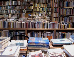 Gedruckte Bücher in Buchhandlung
